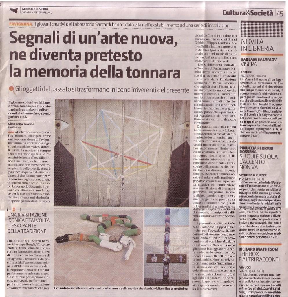 giornale di sicilia settembre 2010